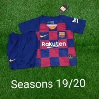 Kaos bola barcelona kids seragam pakaian baju anak jersey kid BARCA FC