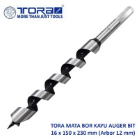 Tora Mata Bor Kayu 16 x 150 - 230 mm / Auger Drill Bit (Arbor 12 mm)