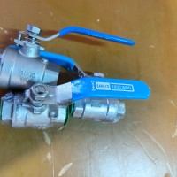 Kran / Keran Air Ball valve 1/2 stainless steel 2PC Body SANKYO