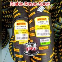 PAKET Ban Tubless Pirelli Diablo Rosso Sport 110/70 & 140/70 Ring 17
