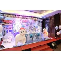 Jasa Dekorasi/ Dekorasi pesta ulang tahun/Dekorasi simple/snow theme