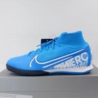 Sepatu Futsal Nike Superfly 7 Elite IC Blue White AT7982-414 Original