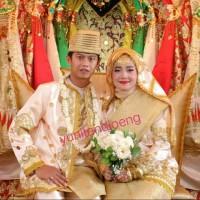 baju pengantin koto gadang bordir tempel palembang padang minang