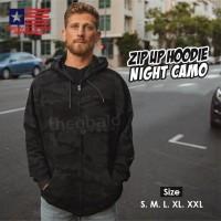 New States Apparel 9600 JAKET ZIP Hoodie NIGHT CAMO Size, S M L XL XXL - Night Camo, S