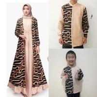 Couple family Bina gamis dan baju koko lengan panjang anak ayah batik