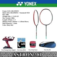 Raket Badminton YONEX ASTROX 38D GIDEON ORIGINAL
