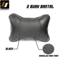 Bantal Mobil / Bantal Leher Kulit Sintetis MBTech APForce Warna Hitam