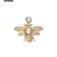 Honey Bee Earring Honeybee Rhinestone Ear Studs Jewelry