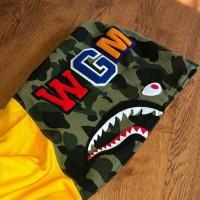 Bape shark fullzip hoodie yellow half camo
