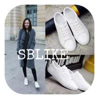 Sepatu Kets Polos Unisex / Sepatu Sneaker Polos Wanita Pria SI
