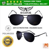 Kacamata Hitam Polarized Sunglasses Aviator Style Anti UV Protection