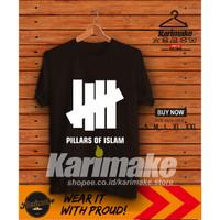 Kaos Baju Islami Pillars of Islam Kaos Muslim - Karimake