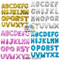 grosir balon foil huruf dan angka(pink,biru,gold,silver) Perpack