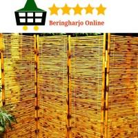 Partisi Ruangan Dari Bambu Cendani 4 Lipat