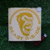 BEAST APE INSIDE decal & cutting sticker mobil & motor