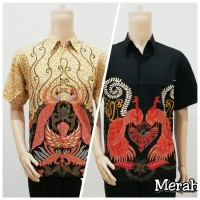Kemeja hem atasan Batik Pria 287 Baju Seragam katun semi oriental imle