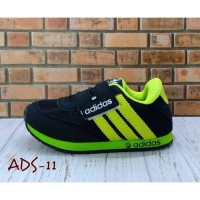 Sepatu Anak Murah Hitam List Ijo Stabilo ADIDAS