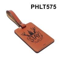 luggage tag kulit asli label koper name tag laser stay wild PHLT575