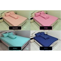 Bed Cover Set Polos 100x200 / 90x200 Extra Single Size