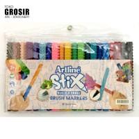 GROSIR Spidol Brush Lettering Artline Stix SET 20 WARNA ETX-F/20