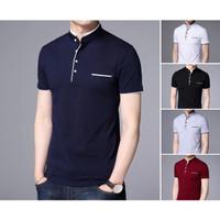 Kaos Polo Shirt Pria Polos   Baju Cowok Polo Kerah Shanghai - Dyrgo - Navy, S