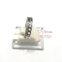 cincin sirzon 1/2 rantai emas putih 750,berat 3.53 gram⠀⠀⠀⠀