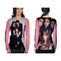 Kaos T-shirt Wanita Lengan Panjang BLACKPINK 3D Fullprint Art 5