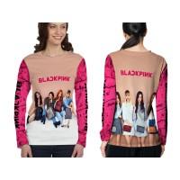Kaos T-shirt Wanita Lengan Panjang BLACKPINK 3D Fullprint Art 3