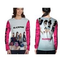 Kaos T-shirt Wanita Lengan Panjang BLACKPINK 3D Fullprint Art 2