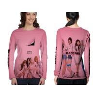 Kaos T-shirt Wanita Lengan Panjang BLACKPINK 3D Fullprint Art 4