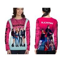 Kaos T-shirt Wanita Lengan Panjang BLACKPINK 3D Fullprint Art 1