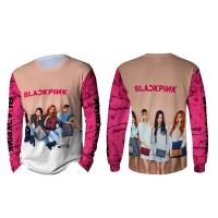 Kaos T-shirt Pria Lengan Panjang BLACKPINK 3D Fullprint Art 3