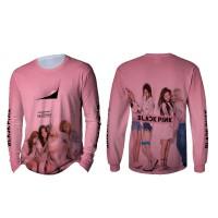 Kaos T-shirt Pria Lengan Panjang BLACKPINK 3D Fullprint Art 4