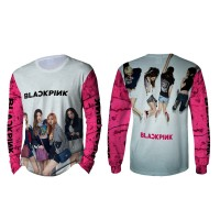 Kaos T-shirt Pria Lengan Panjang BLACKPINK 3D Fullprint Art 2