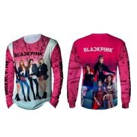 Kaos T-shirt Pria Lengan Panjang BLACKPINK 3D Fullprint Art 1