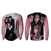 Kaos T-shirt Pria Lengan Panjang BLACKPINK 3D Fullprint Art 5