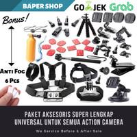 Aksesoris Lengkap Full Set For Action Cam Xiaomi Yi Gopro Brica Sjcam - FREE 6 ANTIFOG