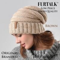Furtalk Beanie Topi Kupluk Dewasa Knitted Hat Bahan Rajut Tebal