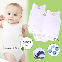Baju Bayi isi 3pcs Kaos dalam bayi jumsuit jumper bayi singlet kd-02