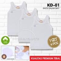 Kaos Dalam isi 6pcs singlet baju bayi anak /baju dalam unisex KD-01