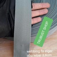 tali webbing tali tas eiger abu tua ukuran 4cm jual ecer per meter