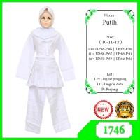 baju putih muslim anak perempuan stelan putih anak perempuan