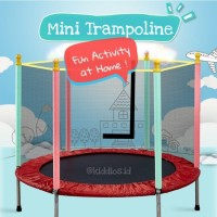 Kiddios Mini Trampoline 55 inch / Mainan Trampolin Anak & Dewasa