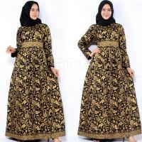 Gamis Batik Prada Emas Baju Batik Gamis Muslimah Gamis Bakung