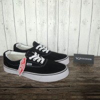 Sepatu Sneakers Vans Era Authentic Black White Hitam Putih Premium