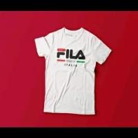 Kaos Baju T-shirt Fila Italia Sport Casual Kaos Distro Kaos Pria