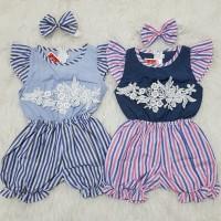 Baju Jumper Anak Bayi Perempuan Jumsuit Set Bandana Renda Good Quality