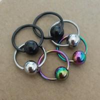 Anting Hoop - Piercing Bola Stainless Steel
