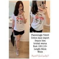 Flaminggo Sequin Import Real Pic Putih [Baju Atasan Wanita 0141] SHE