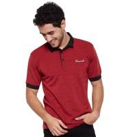 VM Kaos Polo Shirt Jumbo Pendek Merah Maroon - VM-031